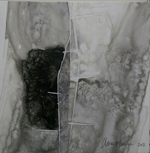 'Arcadia Lost Series - Study,' Ink Wash on Polypropylene Paper, by Amie Oliver